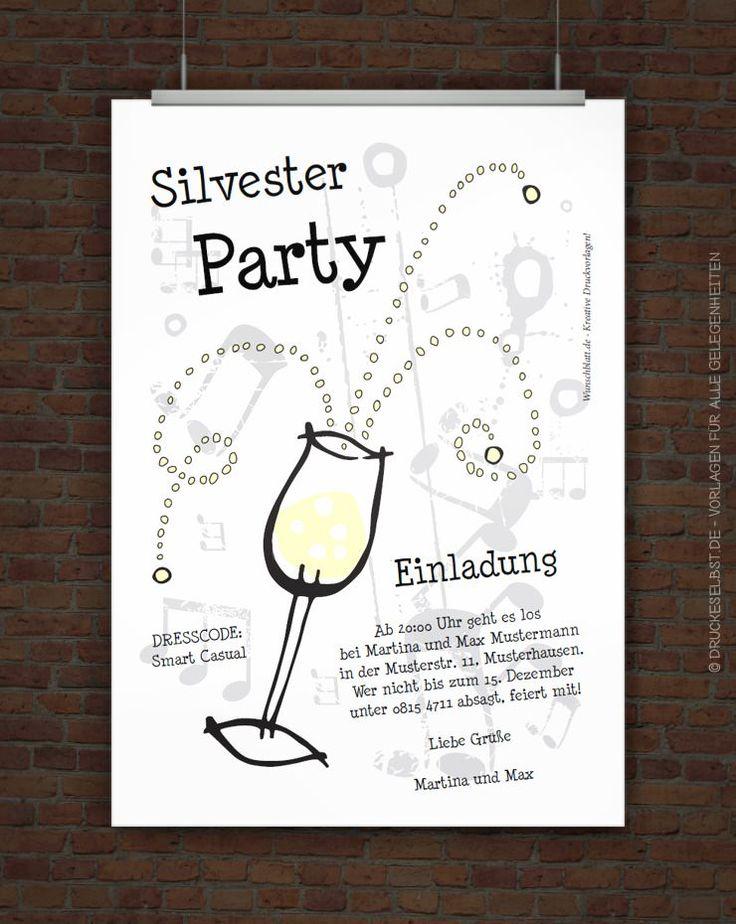 Gestalte Hier Eine Einladungskarte Zur Silberhochzeit Mit Sektglas. Deine  Individuelle Einladung Zur Silberhochzeit Kannst Du Kostenlos Herunterladen  Und ...