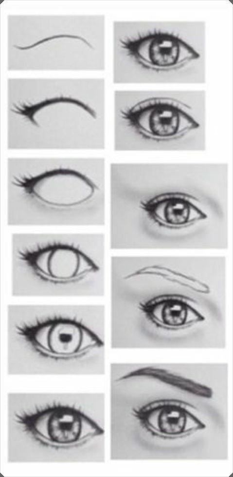 Pratik Şekilde Farklı Göz Çizim Teknikleri Açıklamalı 1