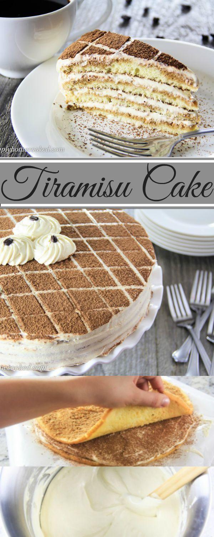 Amazing Tiramisu Cake recipe. SimplyHomeCooked.com