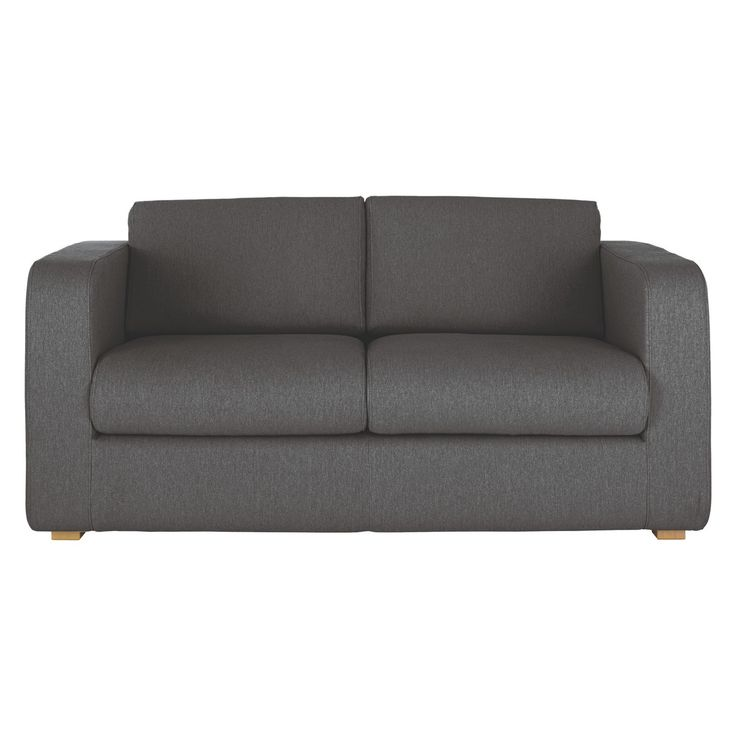 Chesterfield Sofa Classic meets contemporary in this clean lined Porto charcoal fabric seater sofa bed with a foam mattress equivalent to a small double bed