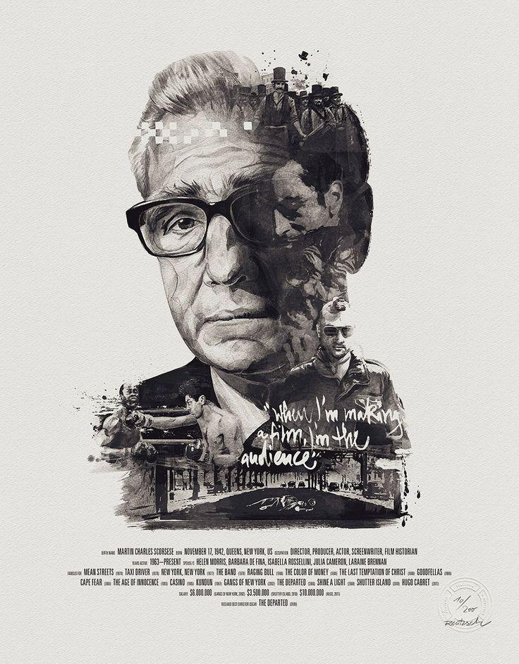 poster of Martin Scorsese. by Julian Rentzsch.