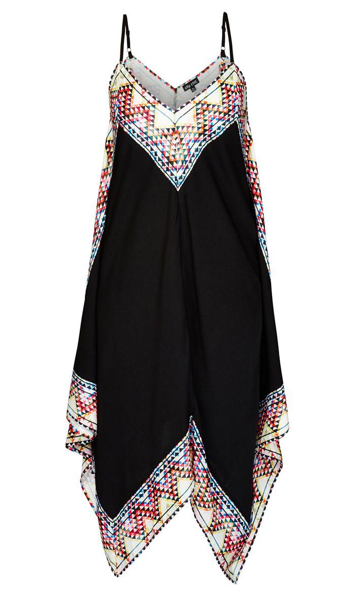 City Chic - FESTIVAL BOARDER DRESS - Women's Plus Size Fashion