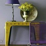 Violet Stalk Table Lamp Vintage Style