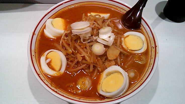 味噌卵麺(蒙古タンメン 中本 東池袋店)   以上、レポっす。