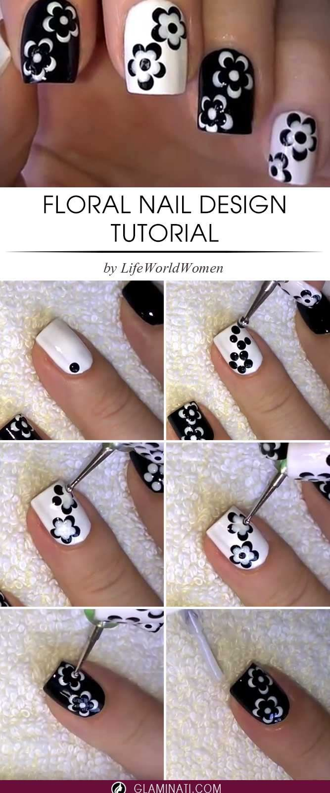 Here are 5 three step easy nail designs you can do right - Easy nail designs you can do at home ...