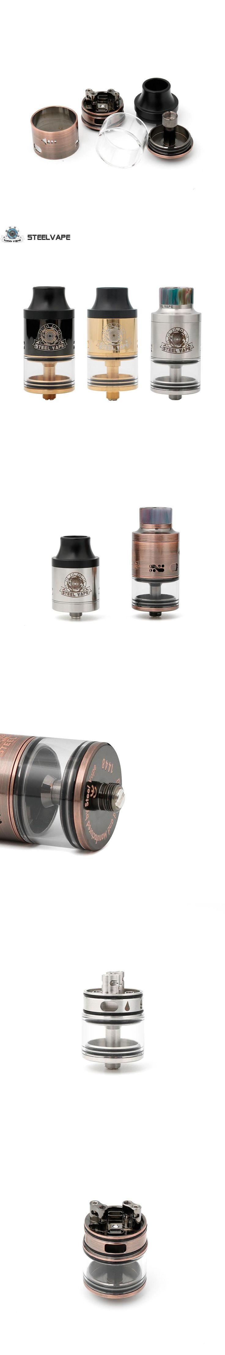 Original Steel Vape Series Tailspin RDTA 25mm RTDA RDA Electronic Cigarette Atomizer for Mechanical Mod Box Mods Kit Best