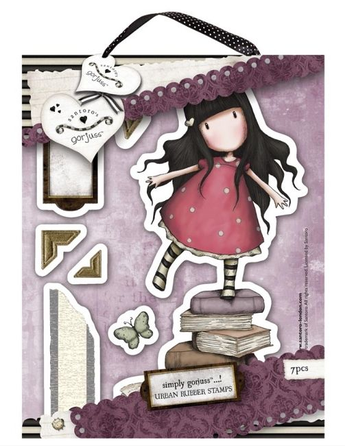 Do Crafts - Simply Gorjuss - Urban Cling Mounted Rubber Stamp - New Heights,$7.49