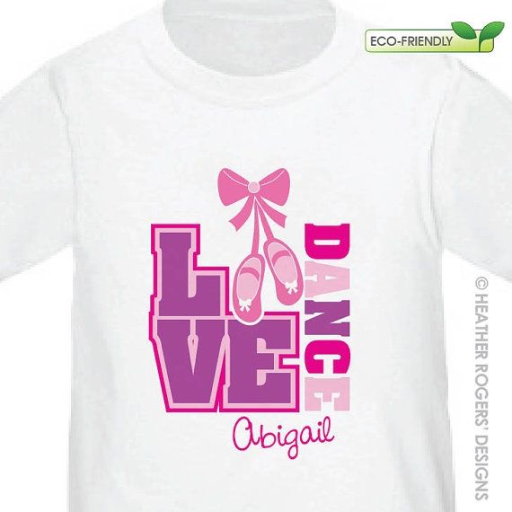 Personalized Ballerina Shirt / Dance Shirt by HeatherRogersDesigns, $16.50