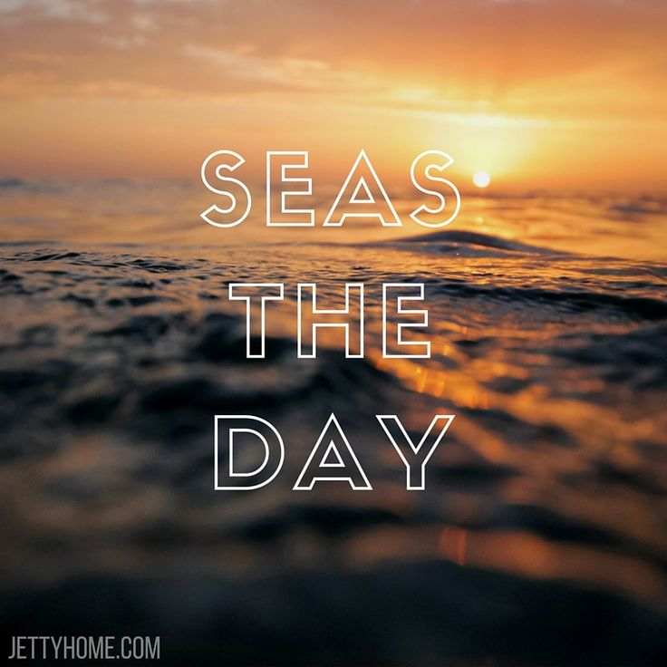 seas the day! love this coastal beach inspired quote :)