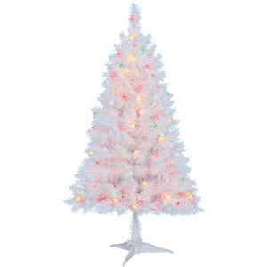 holiday time pre lit 4 indiana christmas tree white - Holiday Time Christmas Trees