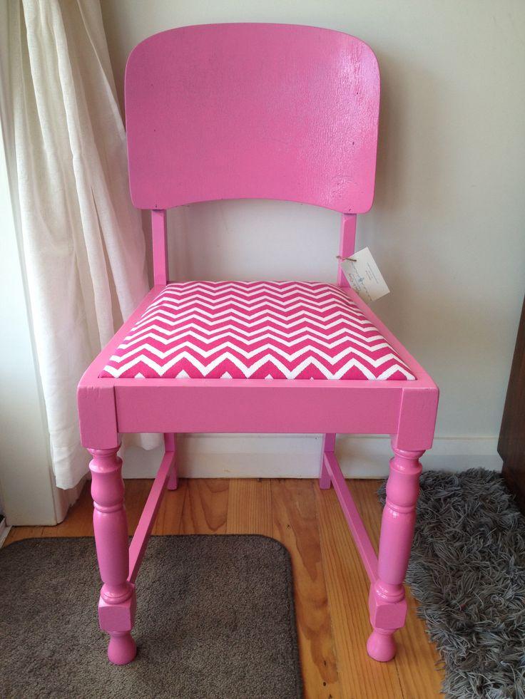 Pink chevron chair