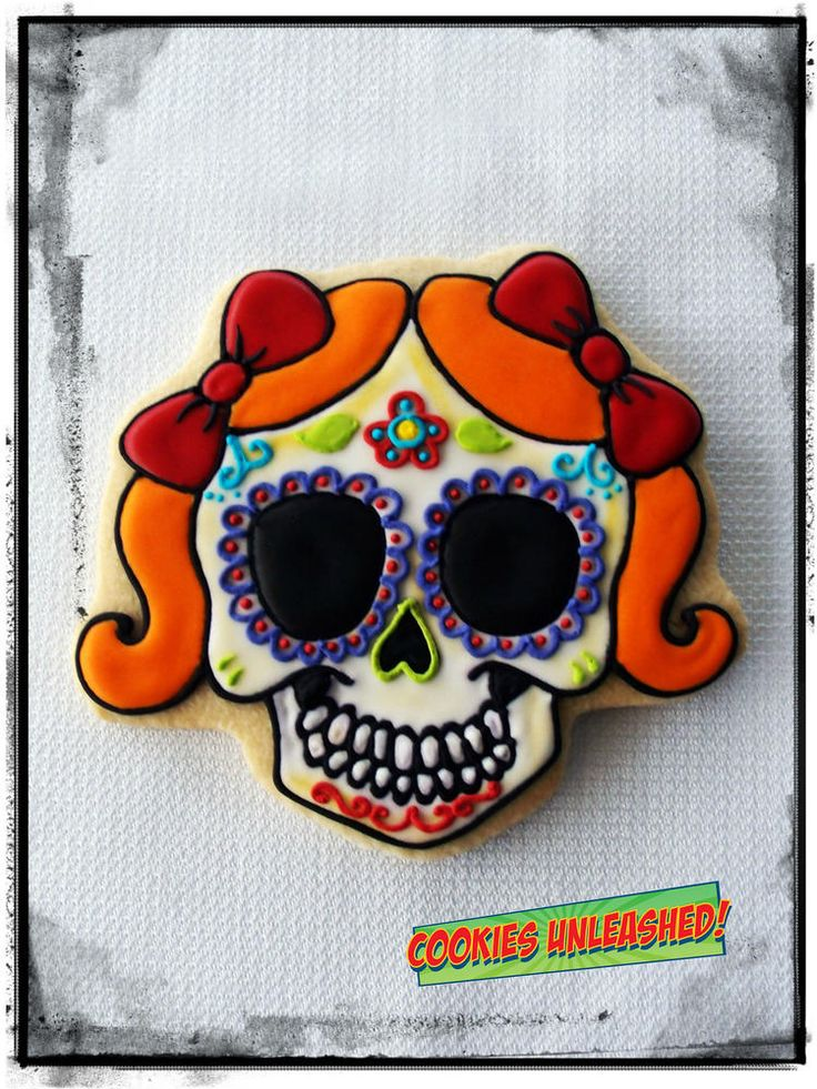 day of the dead cookie girl cookie connection - Halloween Cookies Decorating Ideas