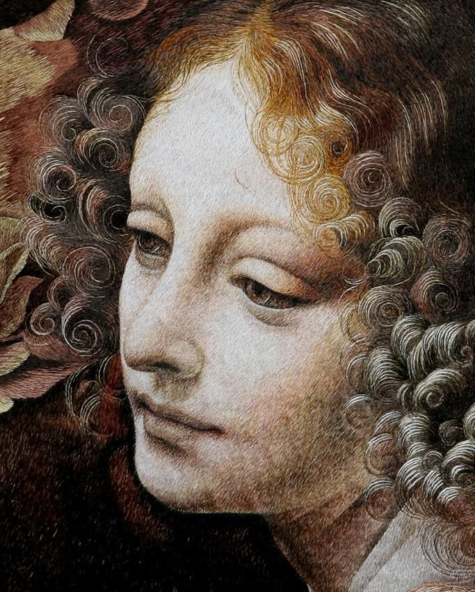 Madonna (on Leonardo da Vinci's motives)  \\ PICTURES, EMBROIDERED BY SILK ON THE SILK \\ author's embroidery of the masters   embroiderers of China