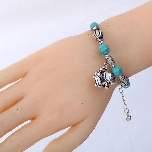 Good Luck Charm Elephant Bracelet Beads Torquiose Very cute bracelet. Brand new. Good quality. Jewelry Bracelets