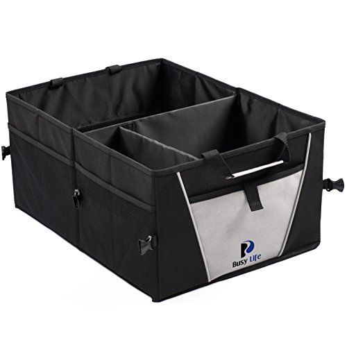 Premium Trunk Organizer by Busy Life ★ Multipurpose Folding Storage for Car Truck or SUV ★ Highest Rated Sturdy Car Organizer ★ Bonus PDF: 'Tips and Techniques for Organizing your Car like a Pro' ! Busy Life Products http://www.amazon.com/dp/B00RGZWIW0/ref=cm_sw_r_pi_dp_EgyIvb00EDS7R