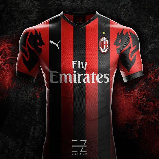 b64897bfa Puma AC Milan 18-19 Home, Away & Third Concept Kits by EZ Design ...