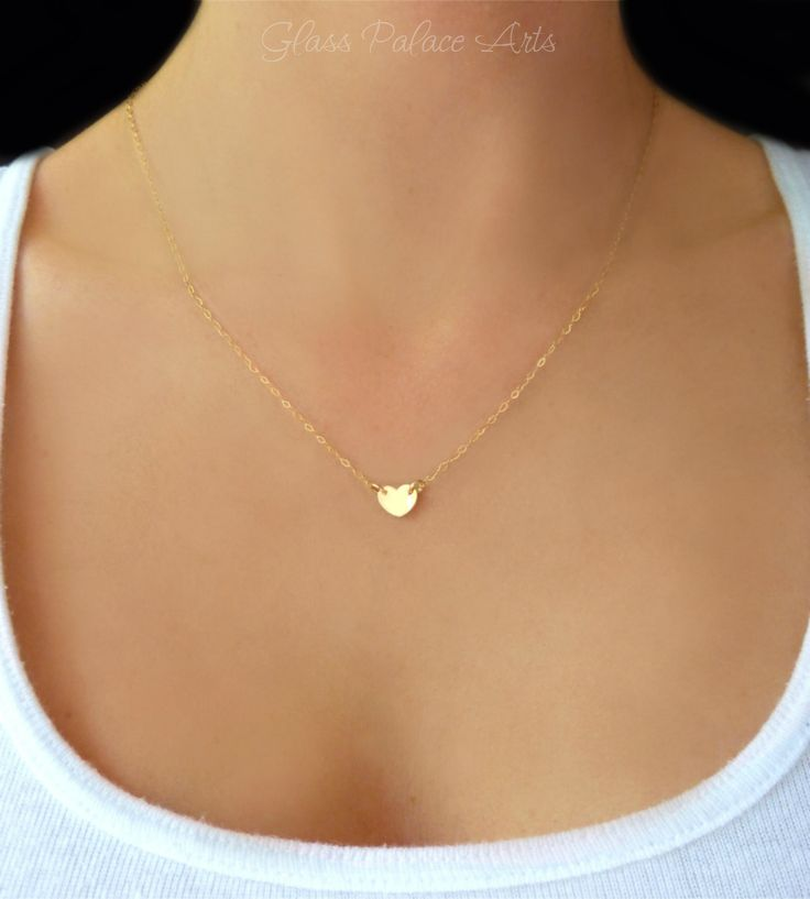 Tiny Heart Necklace - Small Heart Pendant Necklace