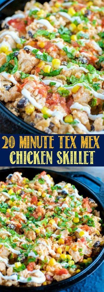 20 Minute Tex Mex Chicken Skillet Dinner Recipe