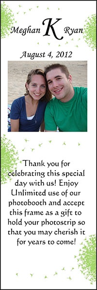 "2"" x 6"" Magnetic Photo Favors - Personalized for your event!  Photo Booth Rentals 