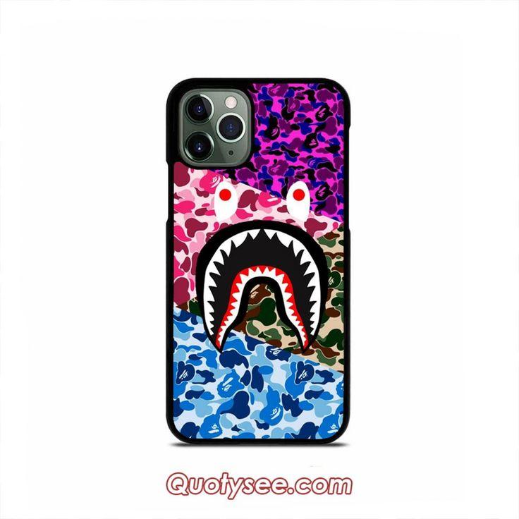 Bape shark multicolor camo iphone case 1111 pro11 pro