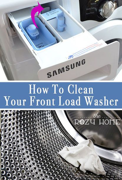 how to clean front load washer machine