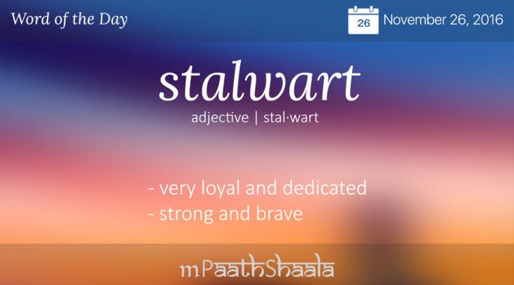 stalwart - Word of the Day