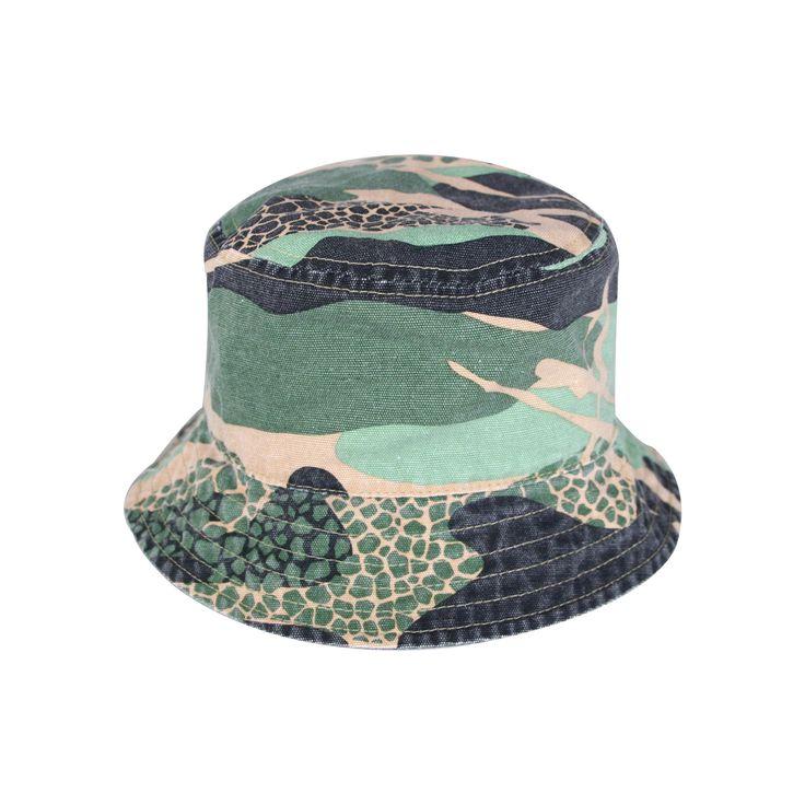 Toddler Boys' Camo Bucket Hat Circo - Green 12-24 M, Size: 12-24 Months