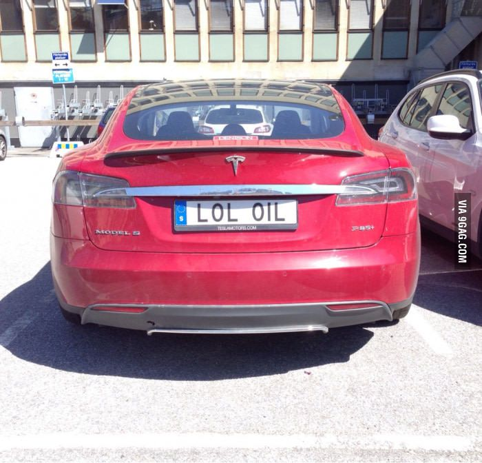 Spotted this Tesla in Sweden