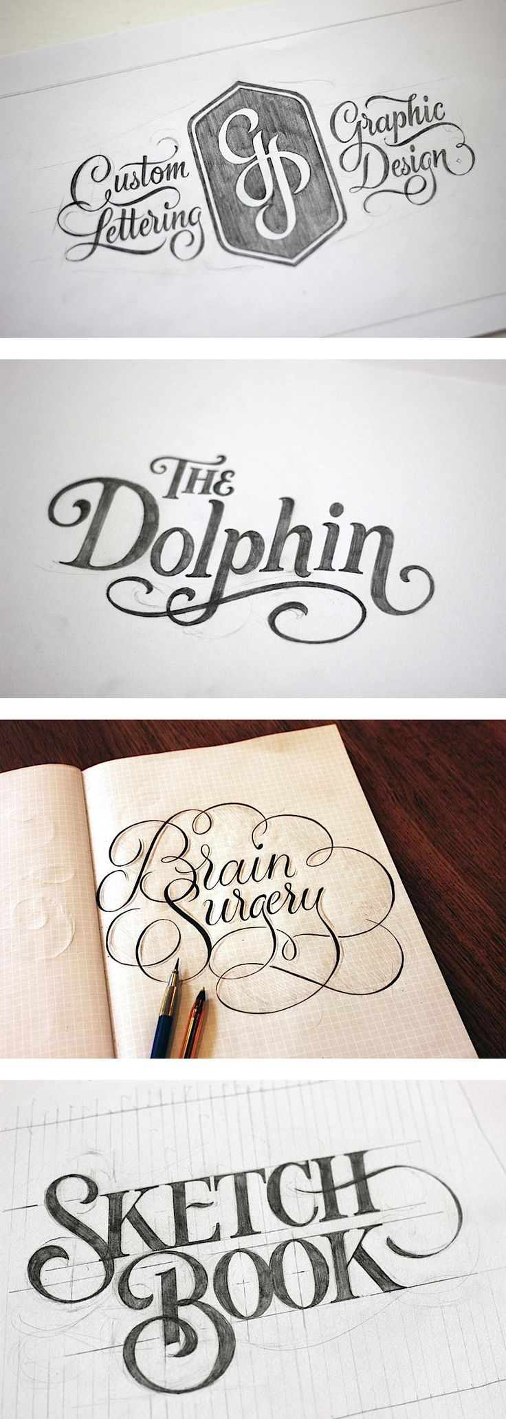 Hand Lettering, not necessarily into the style as such