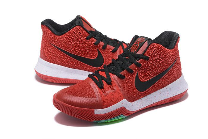 f519619c788c How To Buy Bright Crimson Apple Black Kyrie 3 III Mens Basketball Shoes  2018 For Sale