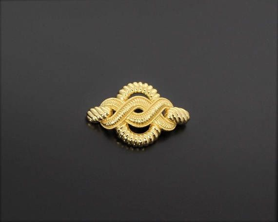 Christian Dior Vintage 1980s Twisted Rope Knot Dior Brooch Pin