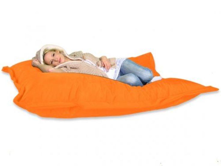 Sitzsack XXL Bed Bag 180 x 140 cm orange Sitzkissen, Sitzsäcke Riesen Sitzsack