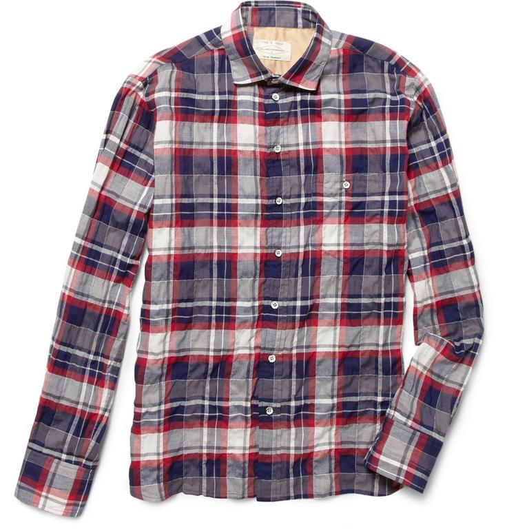 Rag & bonePlaid Cotton-Blend Shirt MR PORTER