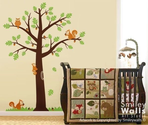 Woodland Forest Decal Set Wall Stickers Nursery Art Animal Decals