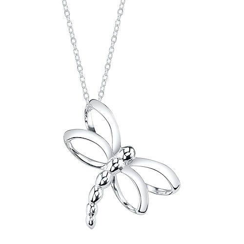 Sterling Silver Open Dragonfly Necklace Necklace | eBay