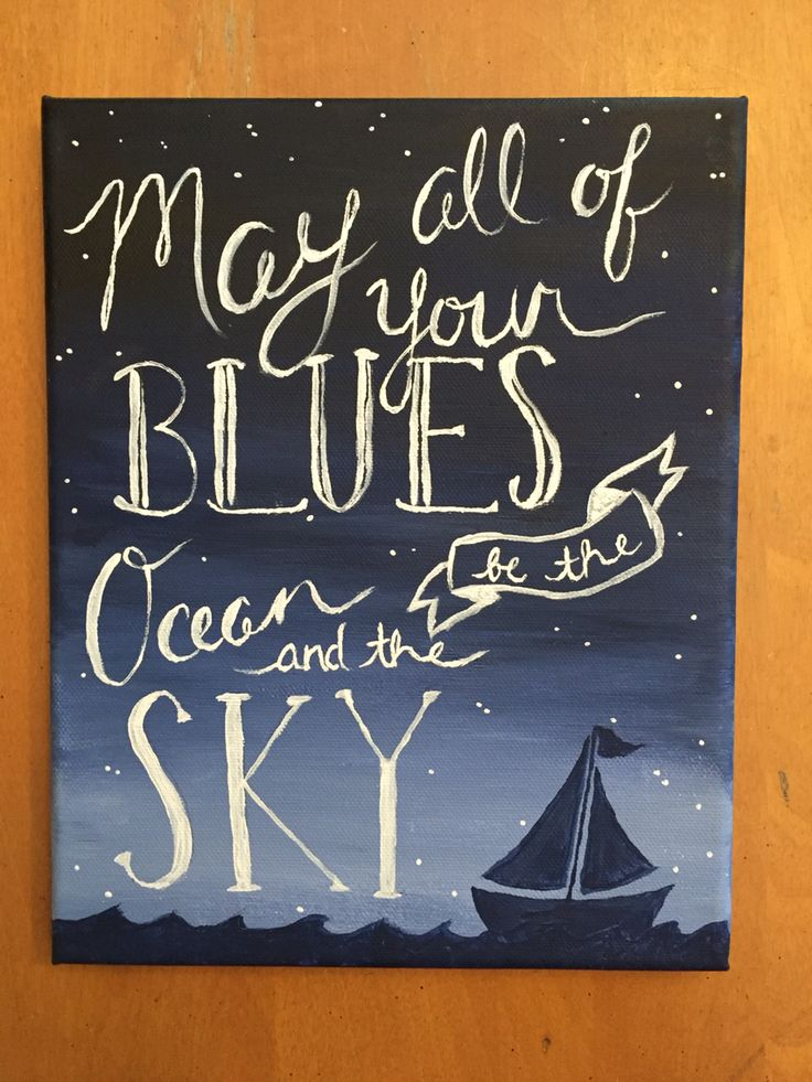 The canvas I made for my boyfriend's nephew's nautical nursery!⚓️