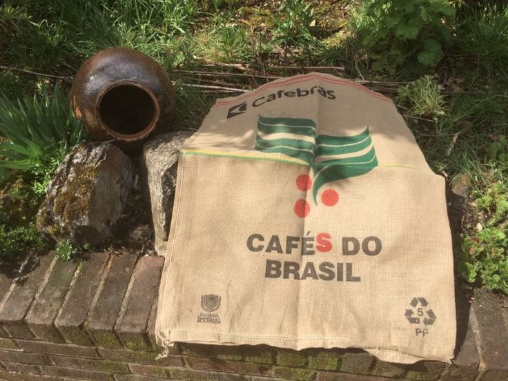 Used Coffee Bean Sacks Brazil Cafe Chairs Seats Upholstery Garden Bench Cushions  | eBay