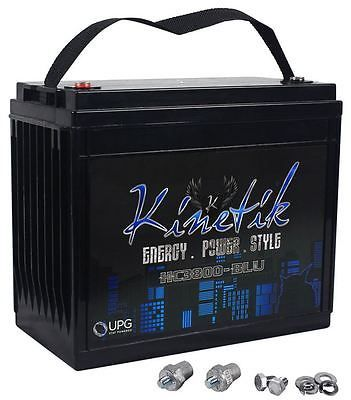 Other Car A V Installation: Kinetik Hc3800-Blu 3800 Watt High Current Power Cell/Car Audio Battery Hc3800 BUY IT NOW ONLY: $289.0