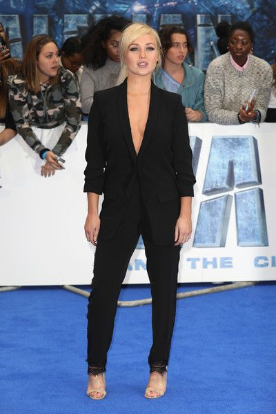 """Jorgie Porter attends the """"Valerian And The City Of A Thousand Planets"""" European Premiere at Cineworld Leicester Square on July 24, 2017 in London, England."""