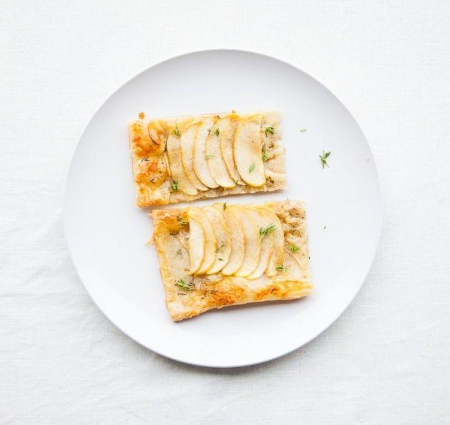 Savory Apple Tart with Gruyere