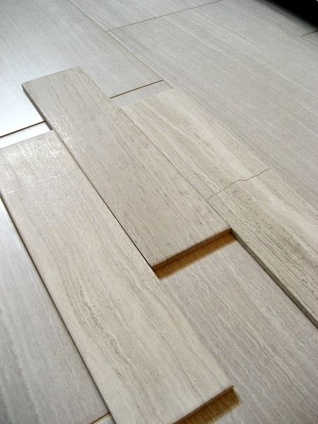 Porcelain tile that looks like silver travertine the