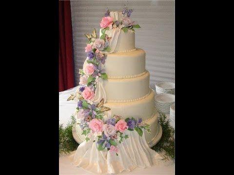 Pastel para boda, decoración con cortadores - YouTube