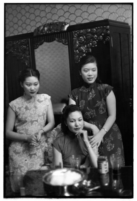 Henri Cartier-Bresson // China, 1949 -- Shanghai. Sing song girls.