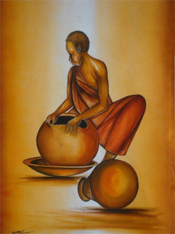 African Pottery Artist