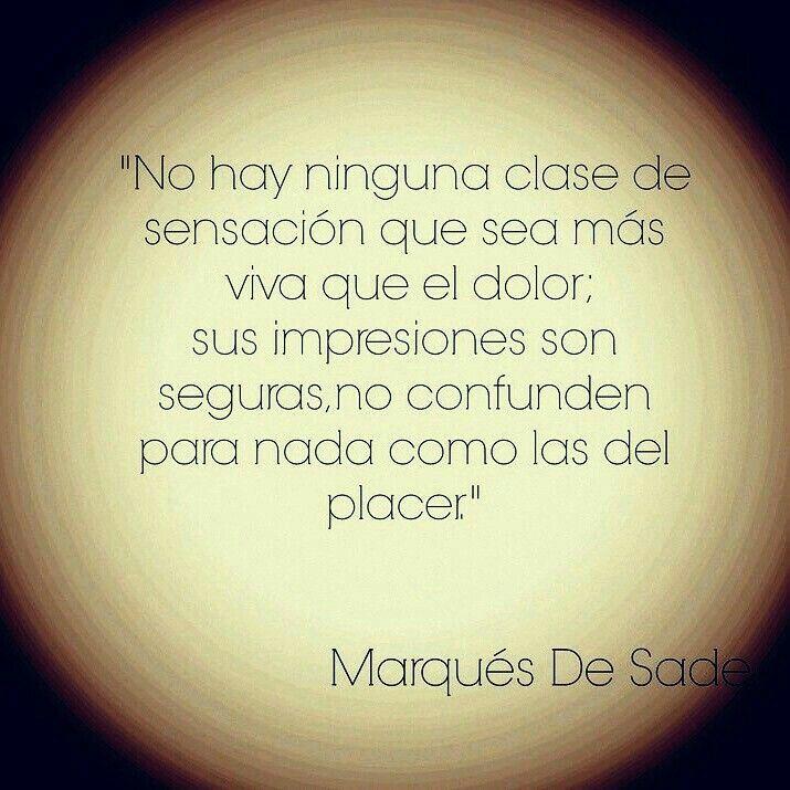 Marqués de Sade.