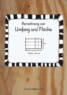 Unterrichtseinheit mit Übungen und Spielen zur Berechnung von Umfang und Fläche von Quadraten und Rechtecken.