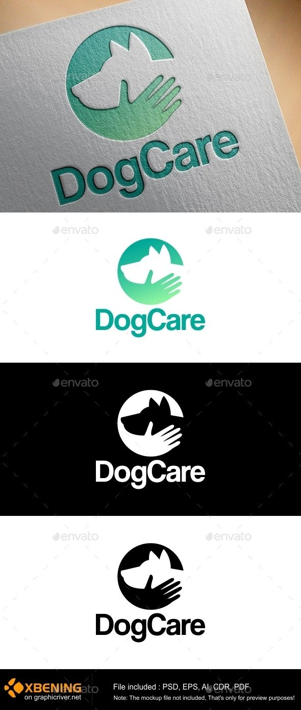 Dogcare  professional and stylish dog  Logo Design Template Vector #logotype Download it here: http://graphicriver.net/item/dogcare-logo-professional-and-stylish-dog-logo/11695258?s_rank=1719?ref=nexion