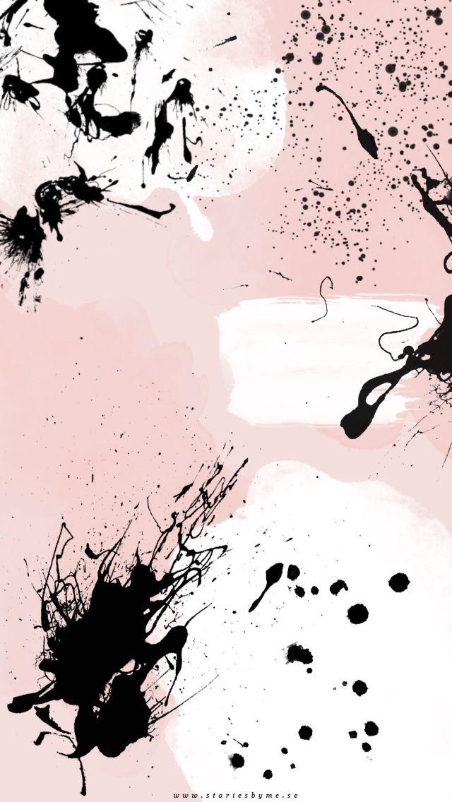 Ink Pink Wallpaper Iphone Abstrak Seni Abstrak Poster Abstrak