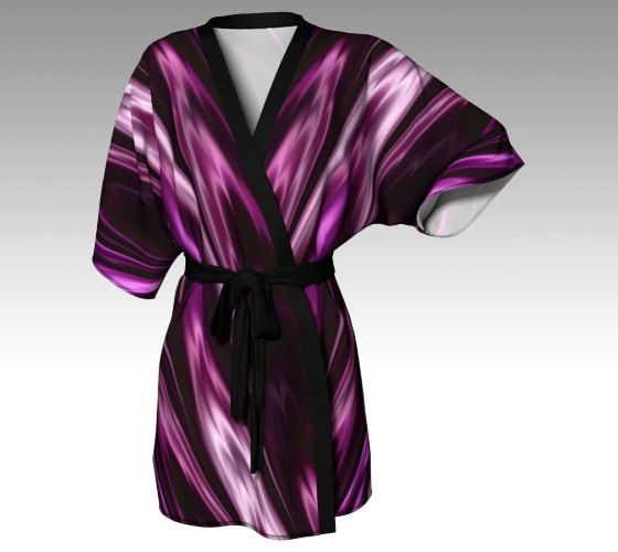 Kimono Robe, Dressing Gown, Purple Robe, Spa Robe, Beach Coverup, Bridesmaid Robe, Lounge Wear, Swimsuit Coverup, Swim Coverup, Women Robe by LaineyDesigns on Etsy