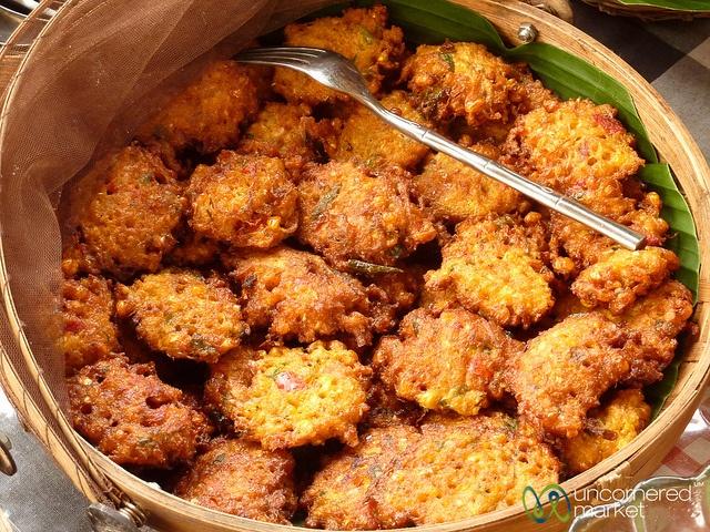 Fried Corn Cakes - bakwan jagung